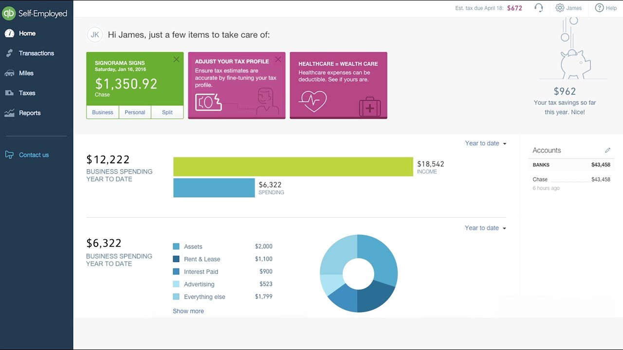 Accountants: Use QuickBooks Self-Employed for your Schedule C Clients