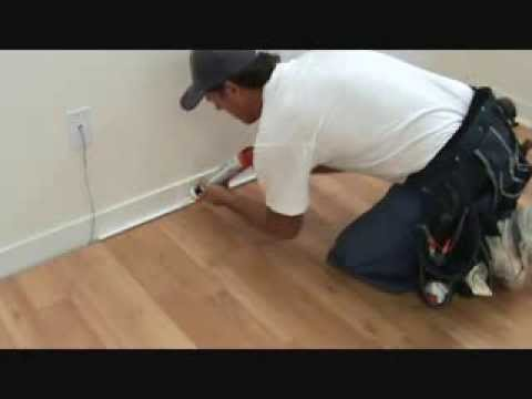 Tips When Installing Baseboard Trim To Laminate Flooring Youtube