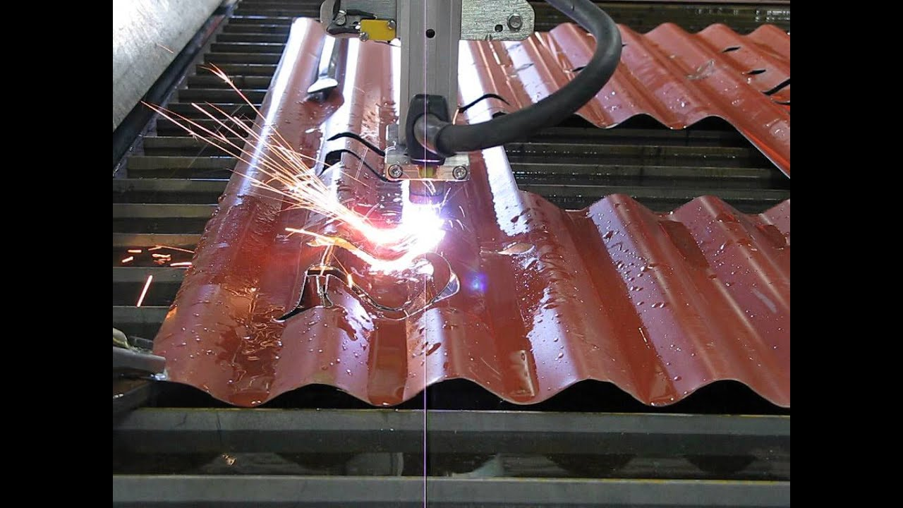 Plasma Cutting Corrugated Iron Youtube