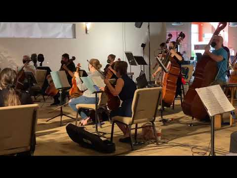 The South Florida Symphony Orchestra prepares for their upcoming concerts