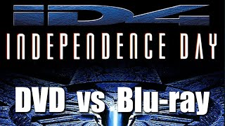 Blu-ray vs Upscaled DVD vs DVD Split Screen Comparison (Independence Day)