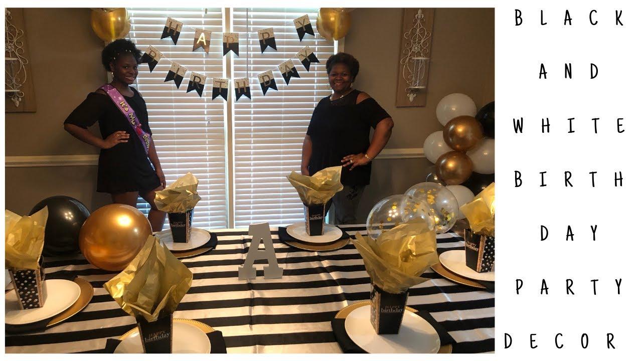 Download Black White & Gold Birthday Party Decor|Black White & Gold Table Decor