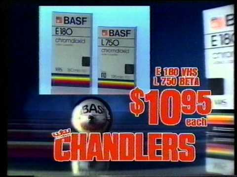 Brisbane TV 1986 - Chandlers' Commercials (Queensland, Australia)
