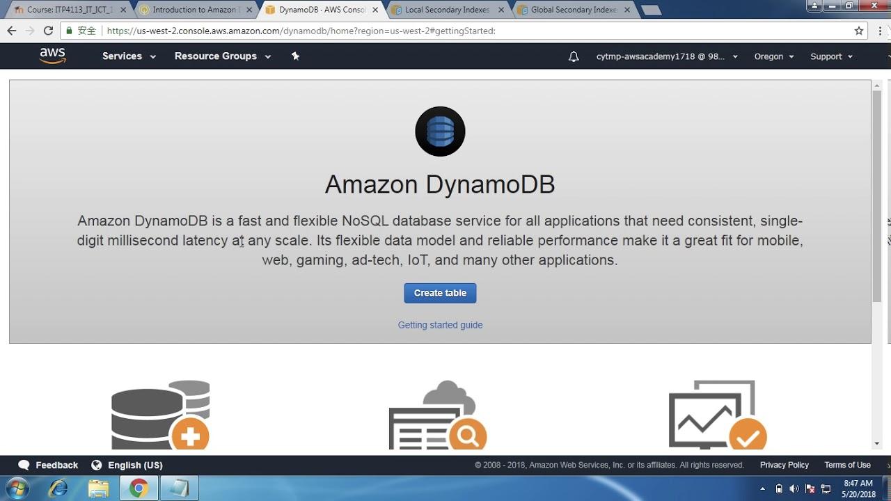 Amazon DynamoDB簡介實驗