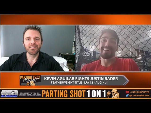 "LFA 18's Kevin Aguilar ""I can handle myself on the ground against Justin Rader"""