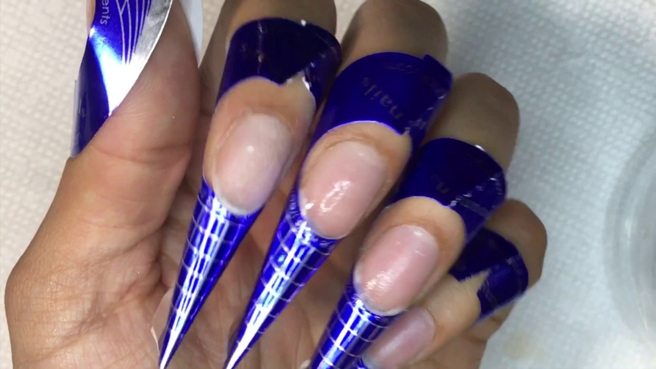 How To Acrylic Nails Bead Application Simple Design Youtube
