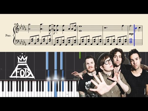 Fall Out Boy - Thnks Fr Th Mmrs- Piano Tutorial + SHEETS
