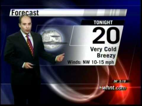 Jason Simpson's 1st Weathercast at WHNT Channel 19 - 1/2/11