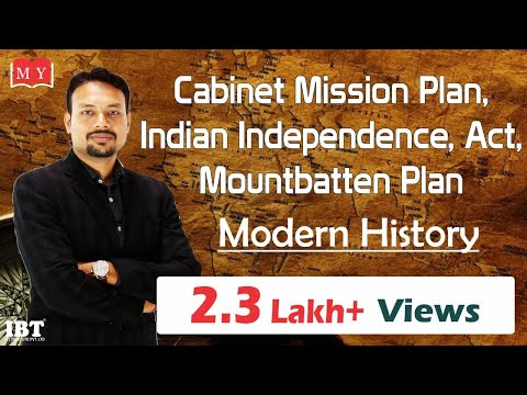 Cabinet Mission Plan,  Indian Independence Act, Mountbatten Plan    By Dr Deepak  Yadav