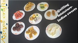 Miniature quiling- diwali sweets. Step by step tutorial