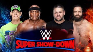 WWE Super ShowDown 2018 John Cena & Bobby Lashley vs Kevin Owens Elias John Cena | NEWS SRW