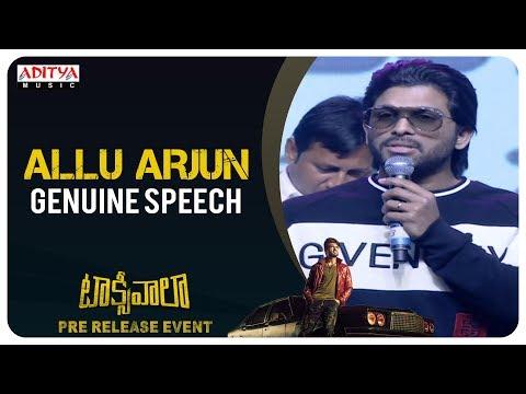 Stylish Star Allu Arjun Genuine Speech @ Taxiwaala Pre-Release EVENT Live    Vijay Deverakonda