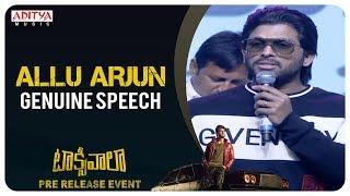 Stylish Star Allu Arjun Genuine Speech @ Taxiwaala Pre-Release EVENT Live || Vijay Deverakonda