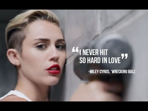 Miley Cyrus Wrecking Ball Lyrics (HD) - YouTube