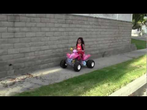 For Sale USED Power Wheels Fisher-Price Kawasaki KFX Quad Ride On - Barbie