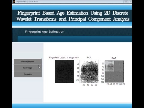 Age Estimation Using 2D Discrete Wavelet Transforms Matlab Project