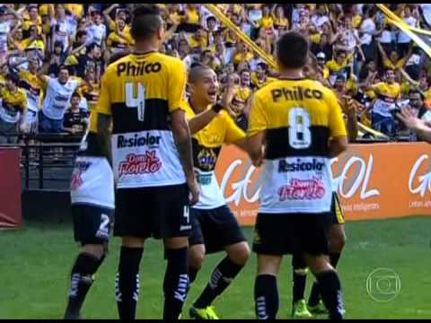 Gol e Hino: Criciúma, no Heriberto Hülse (versão Globo RJ)