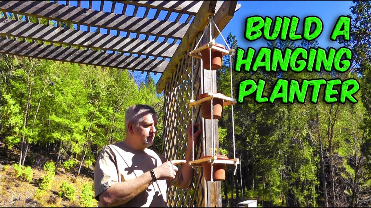 Build A Hanging 3 Tiered Rope Planter Youtube