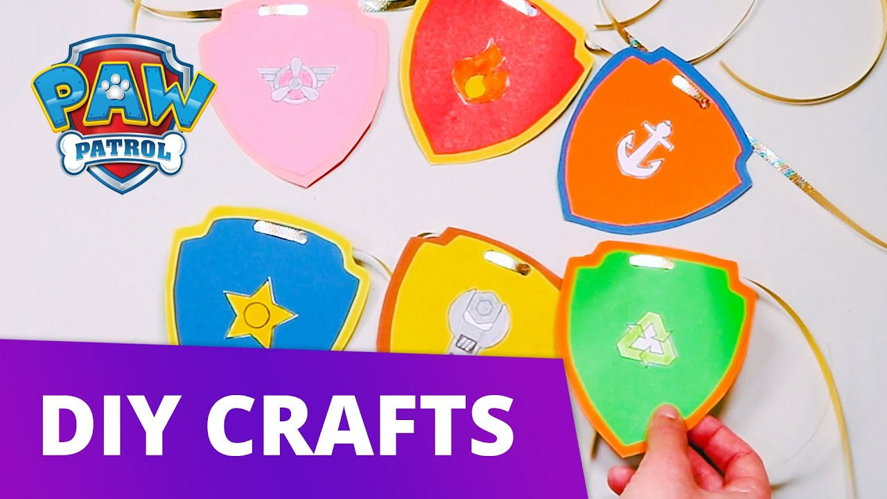 Make Your Own Paw Patrol Badge Diy Arts And Crafts For Kids Paw Patrol Official Friends Youtube