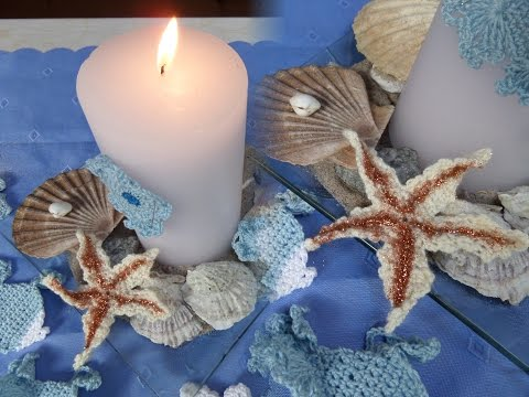 DIY: MARITIME DEKO Seestern häkeln und Kerzen-DEKO SELBER MACHEN; How to