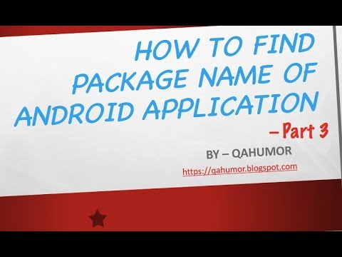 How to get the package name of Android application : Part 3 | AAPT DUMP  BADGING command