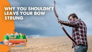 Why you shouldn't leave your bow strung for long periods of time (Archery)