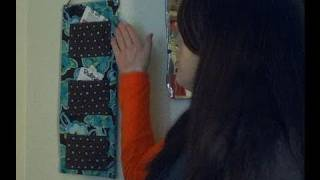 How to Make a Fabric Wall Pocket Organizer for Your Receipts, Coupons, etc... Day 18