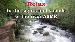 Relax to the sights and sounds of the river #ASMR