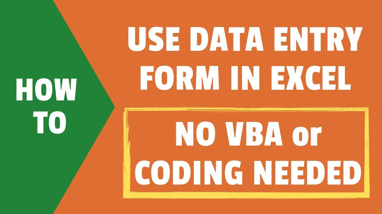 How to Create a Data Entry Form in Excel (Step-by-step Guide)