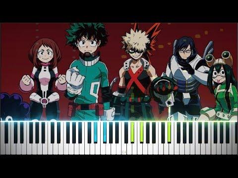 "Boku No Hero Academia Season 3 OP 2 - ""Make My Story"" (Synthesia Piano Tutorial)"