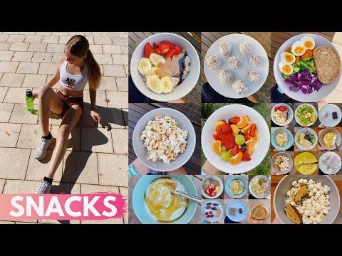 8 EASY HEALTHY SNACK IDEAS & RECIPES || school & running