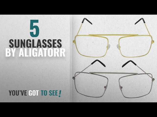db7e2ca786 Top 10 Aligatorr Sunglasses  2018   Aligatorr Raees Movie Style Combo Pack  of Silver and Golden - YouTube