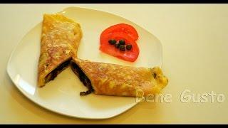 Омлет с болгарским перцем и бальзамическим уксусом