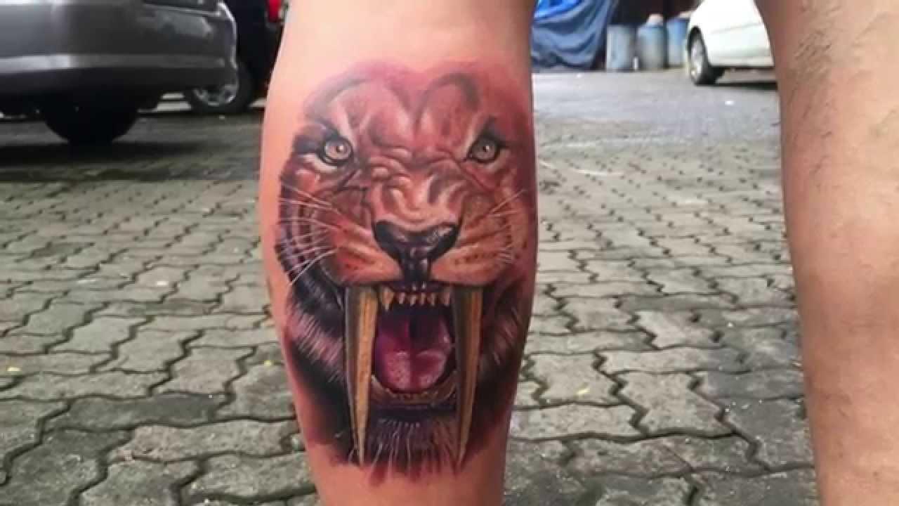 Sabertooth Tiger Tattoo Youtube