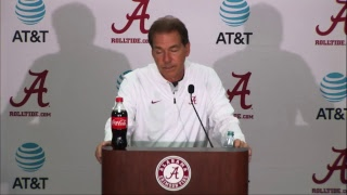 Watch Coach Saban's Postgame Press Conference LIVE after Alabama's 50-17 win over The Citadel