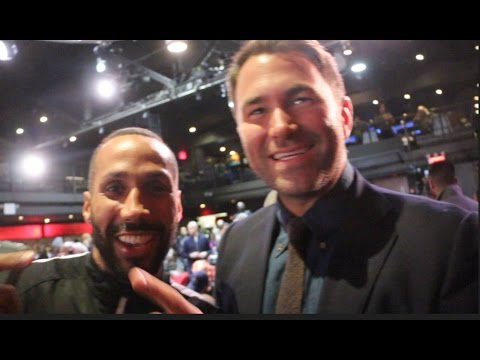 'NO BEEF HERE' - JAMES DeGALE AND EDDIE HEARN REUNITE IN NEW YORK TO SHOW LOVE STORY CONTINUES