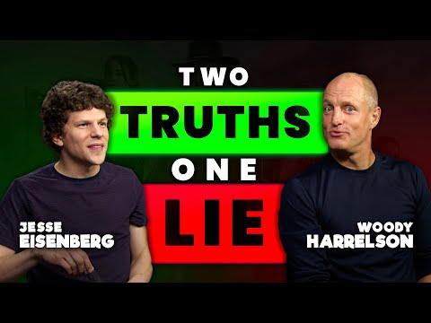 Woody Harrelson And Jesse Eisenberg Play 2 Truths 1 Lie