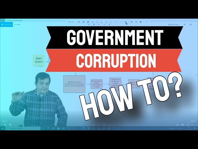 Government corruption-how to