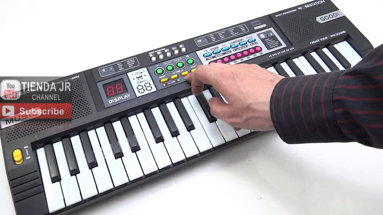 Canciones Reproduce Display Led Usb Ritmos 37 Mp3 Juguete Tonos Teclas Organeta Piano De jVLGSpqUzM