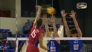 Виктор Полетаев атака Мировая лига 2016 Россия-Сербия/Victor Poletaev spikes