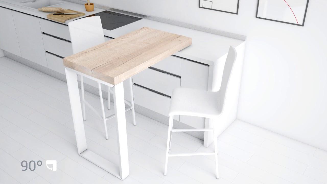 Barra cocina 90 movimiento desplazamiento 02 cancio - Fabricantes de mesas de cocina ...