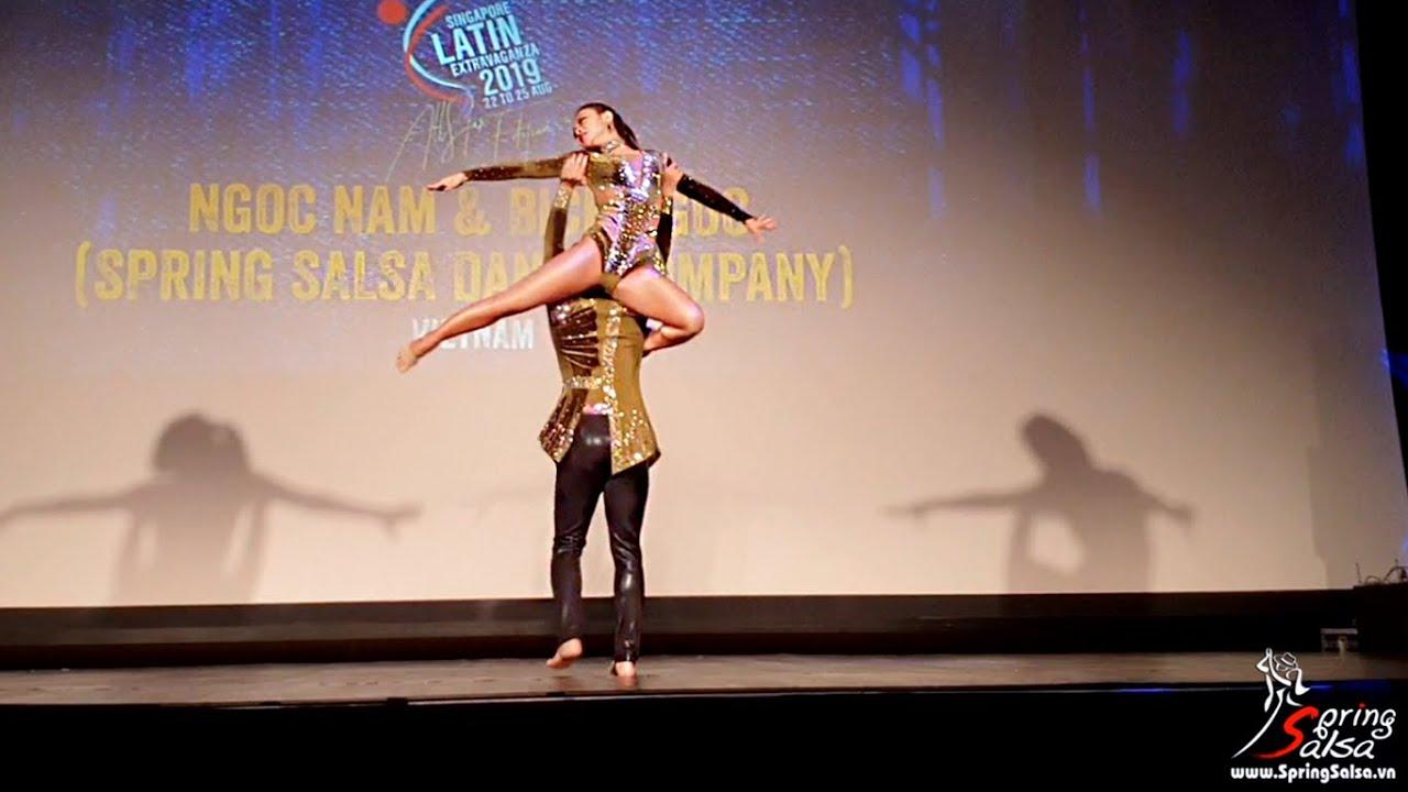 NEW SHOW - Ngoc Nam & Bich Ngoc @ Bachata Performance at Singapore Latin Extravaganza 2019