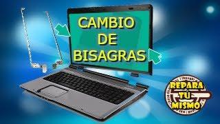 ✅COMO CAMBIAR BISAGRAS ROTAS O ARRANCADAS DE UN PORTÁTIL //TUTORIAL