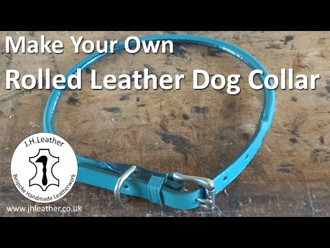 How to Make a Rolled Leather Dog Collar - Invisible Stitching