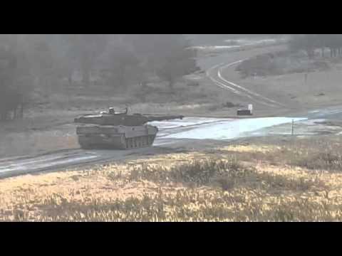 Panzer Leopard 2 schießt - Truppenübungsplatz Grafenwöhr