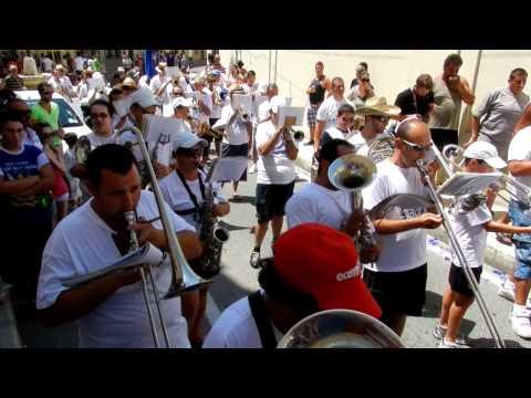 Attard Fiesta morning celebration Band march