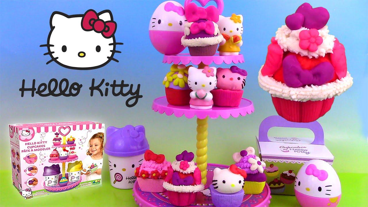 p 226 te 224 modeler play doh hello cupcake tower cupcakes plastilina ハローキティ