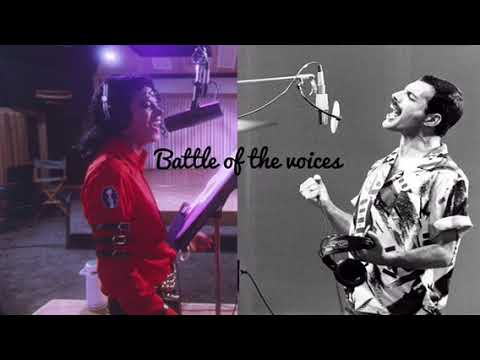 Michael Jackson Vs Freddie Mercury Acapella studio vocals