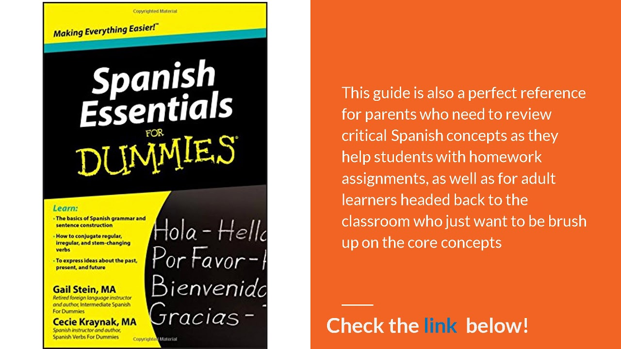 Spanish Essentials For Dummies In 2018 Youtube