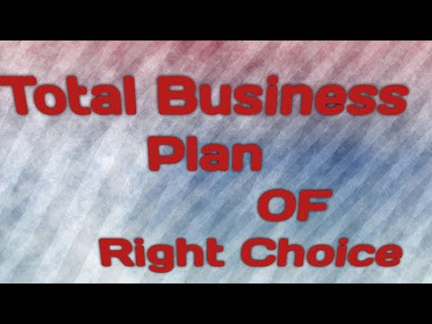 Total business plan of right choice #KRNMAHAPATRA